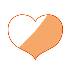 Silhouette nice heart icon design vector