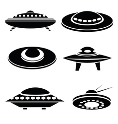 Silhouettes of spaceships vector