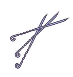 Skewers set icon vector image