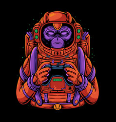 Space monkey vector