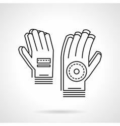 Sport gloves thin line design icon vector