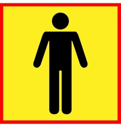 Standing human warning icon vector image vector image