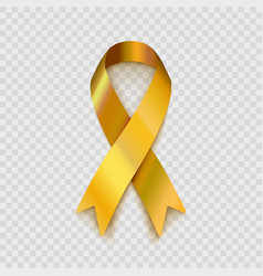 stock gold ribbon isolated vector image