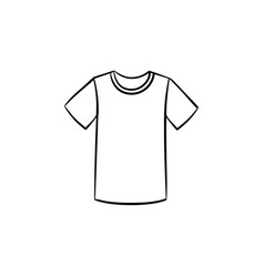 t-shirt hand drawn sketch icon vector image