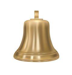 the golden bell in the vector image