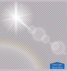 Transparent sunlight special lens flare vector