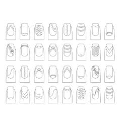 Various fruit nail designs vector