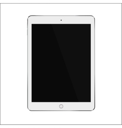 White realistic smart tablet with blank black vector