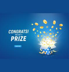 Win prize online casino gambling game vector