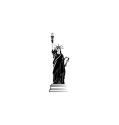 world attractions statue of liberty in new york vector image