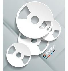 3d cd paper design vector image