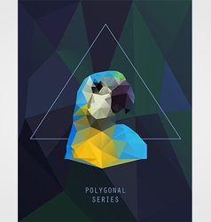 Abstract polygonal bird vector image