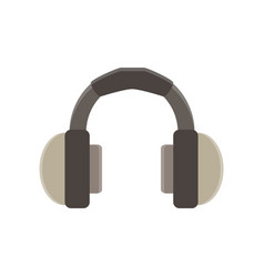 headphones flat icon isolated music design vector image