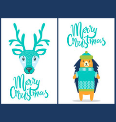 merry christmas banners on vector image