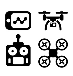 Quadrocopter Icons vector image vector image