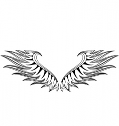 fire wing vector image vector image