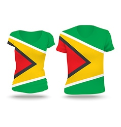 Flag shirt design of Guyana vector image