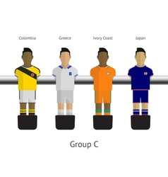 Table football soccer players Group C - Colombia vector image