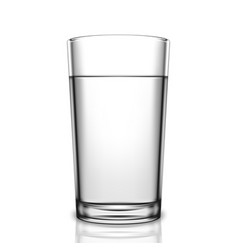 transparent glass of water vector image vector image