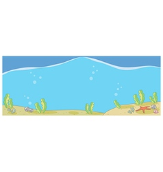 Underwater Seascape vector image