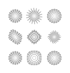White abstract circles with drop shadow background vector image