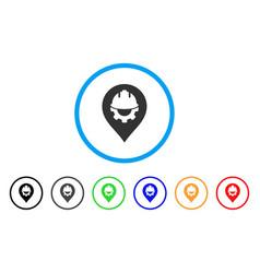 development helmet marker rounded icon vector image vector image