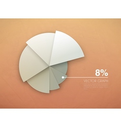 graph diagram pie chart vector image vector image