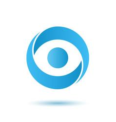 opened eye logo media agency concept vector image