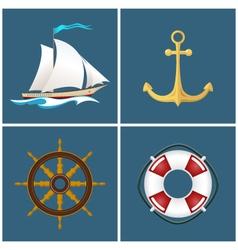 Sailboat and Ship Equipment vector image vector image
