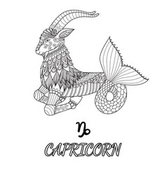 capricorn vector image vector image