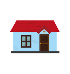 colorful silhouette with little house vector image
