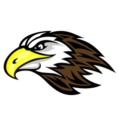 falcon head mascot vector image vector image