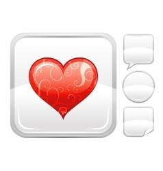 Happy Valentines day romance love heart icon vector image vector image