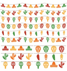 mexican bunting vector image vector image