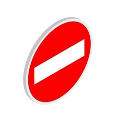 No entry traffic sign icon isometric 3d style vector image vector image