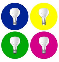 realistic bulbs set vector image vector image