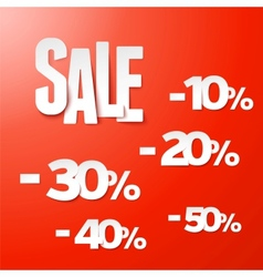 Sale percents paper set vector image vector image