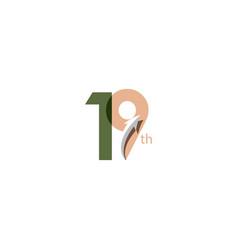 19 year anniversary template design vector