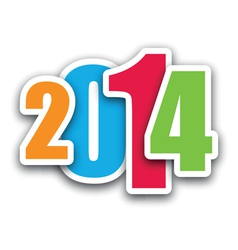 2014 coloured vector image