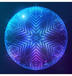 Abstract shining cosmic sphere vector