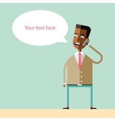 African american businessman talking on the phone vector