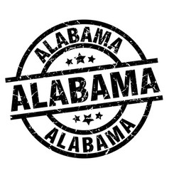 Alabama black round grunge stamp vector