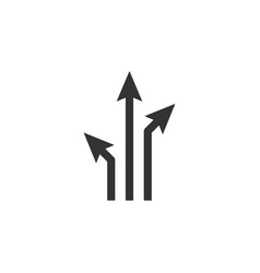 arrows directions line icon simple modern flat vector image
