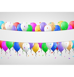 Balloons on gray background vector