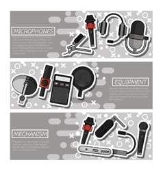 Banners about Different microphones types vector