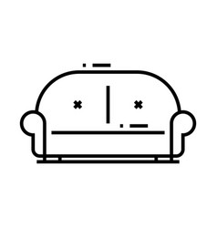 big sofa line icon concept sign outline vector image