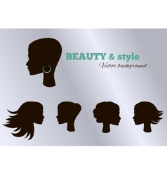 Black girls facial collection set set vector image vector image