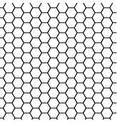 Black hexagonal mesh pattern seamless vector