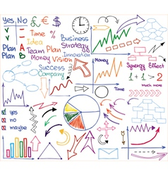 Business materials vector image