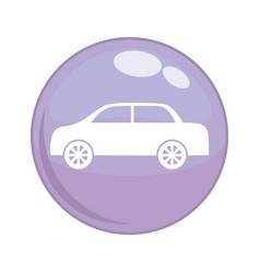 car vehicle button icon vector image